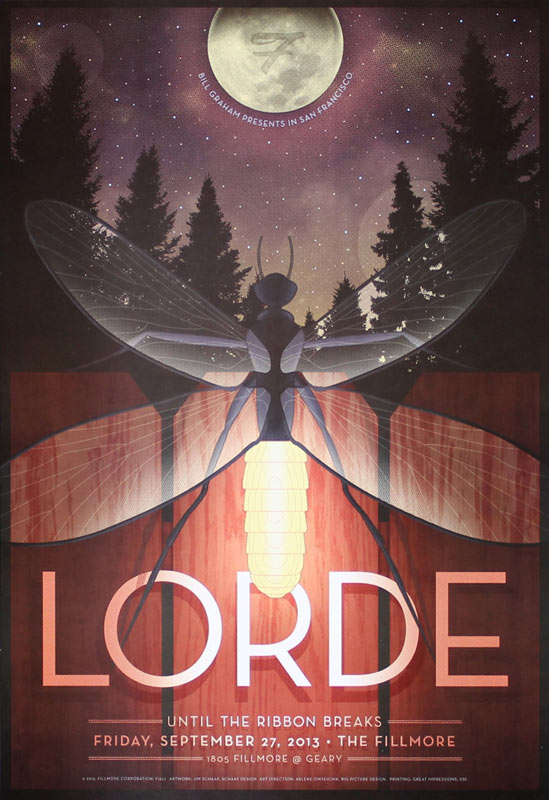 Lorde 2013 Fillmore F1227 Poster