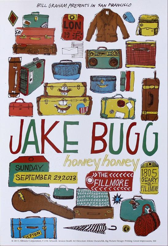 Jake Bugg 2013 Fillmore F1230 Poster