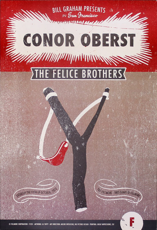 Conor Oberst New Fillmore F1231 Poster