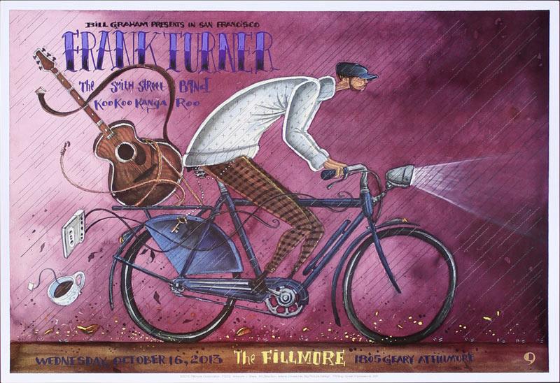 Frank Turner 2013 Fillmore F1232 Poster