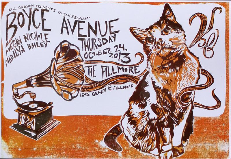 Boyce Avenue 2013 Fillmore F1233 Poster