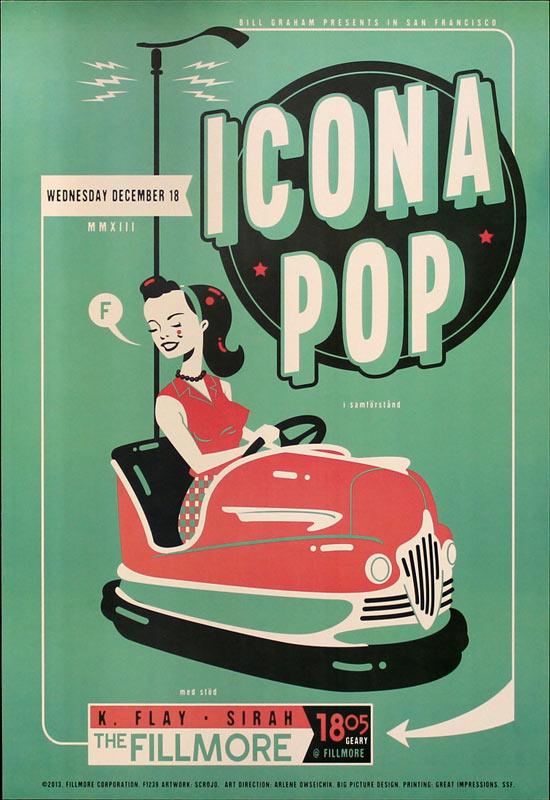 Icona Pop 2013 Fillmore F1239 Poster