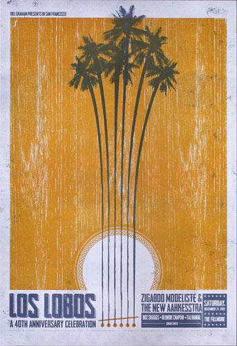 Los Lobos 2013 Fillmore F1242 Poster