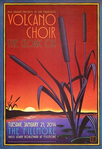 Volcano Choir 2014 Fillmore F1245 Poster
