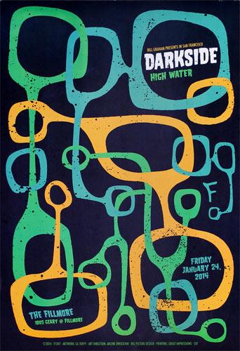 Darkside 2014 Fillmore F1247 Poster