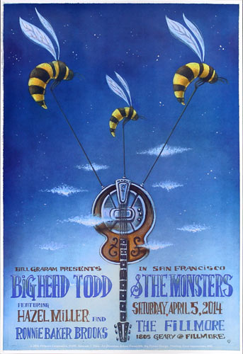 Big Head Todd 2014 Fillmore F1258 Poster