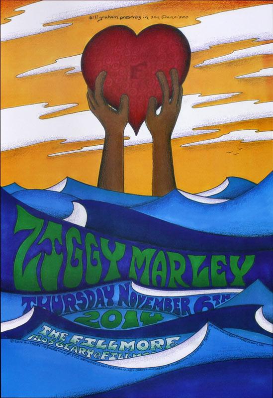 Ziggy Marley New Fillmore Poster F1300