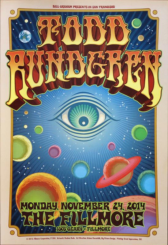 Todd Rundgren New Fillmore F1304 Poster