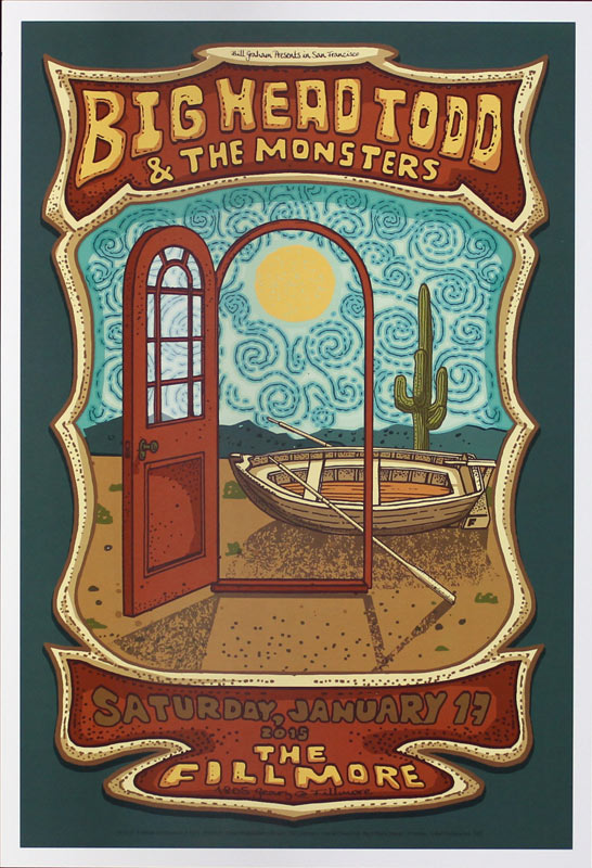 Big Head Todd and the Monsters New Fillmore Poster F1310