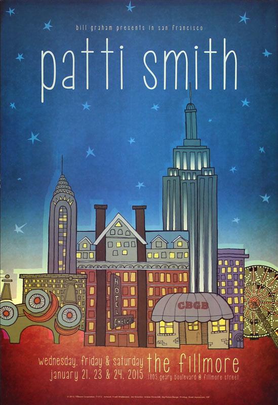 Patti Smith New Fillmore F1312 Poster