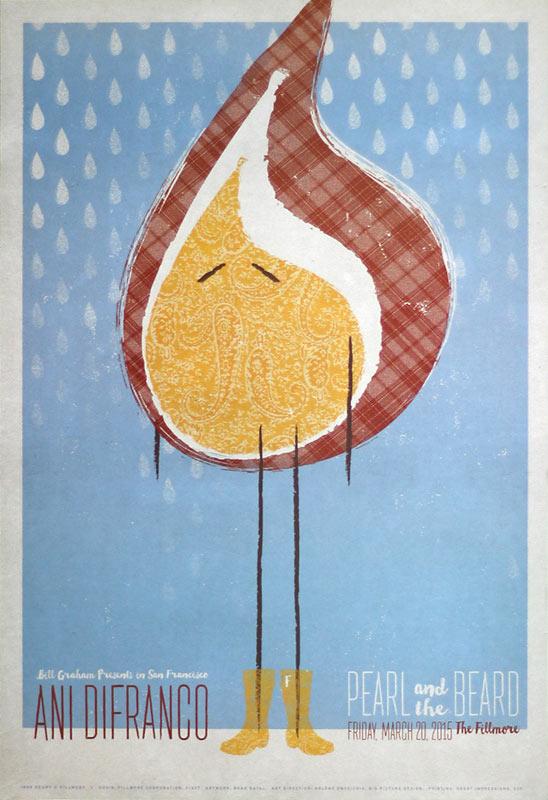 Ani DiFranco 2015 Fillmore F1327 Poster