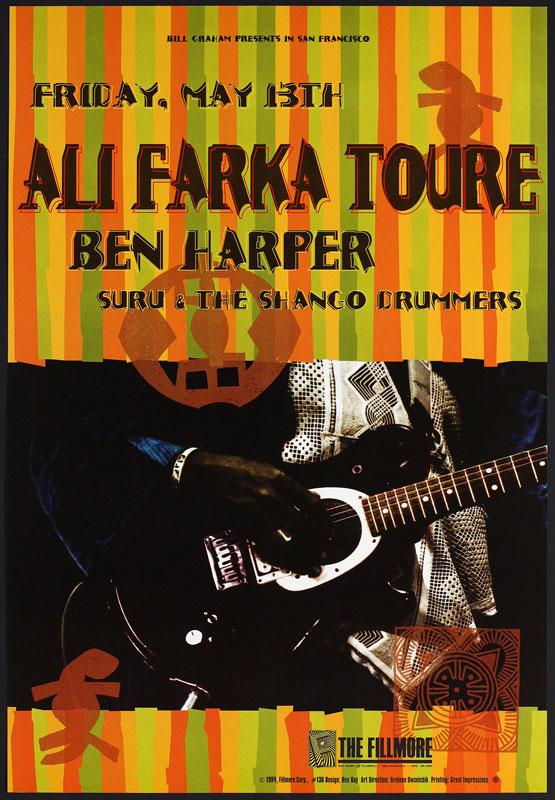 Ali Farka Toure New Fillmore F136 Poster