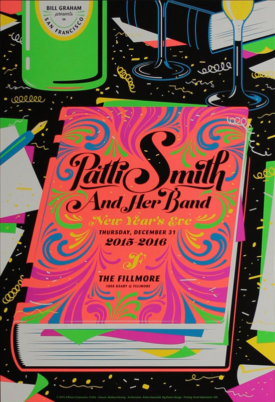 Patti Smith and Her Band New Fillmore F1384 Poster