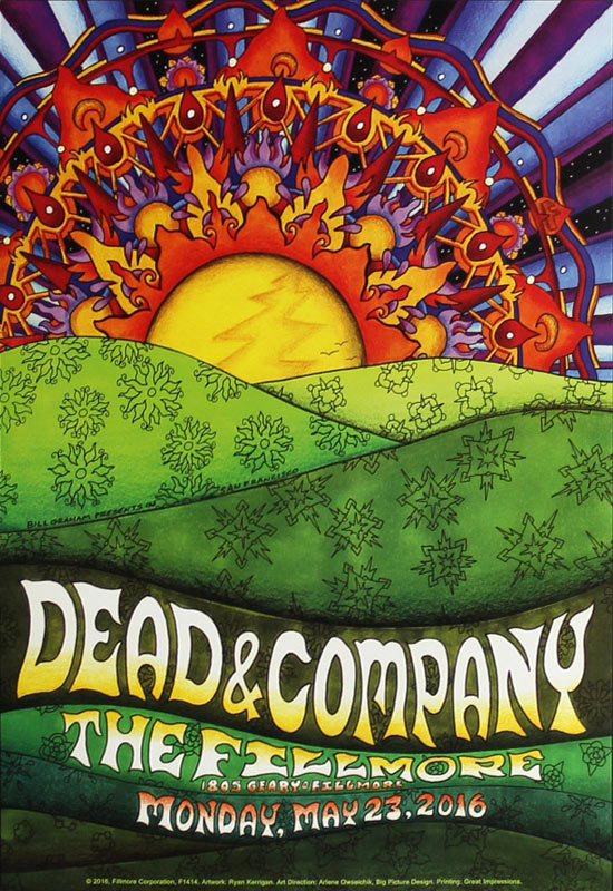 Dead and Company New Fillmore F1414 Poster