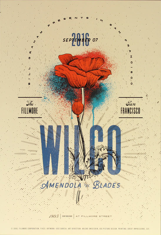 Wilco New Fillmore Poster F1423