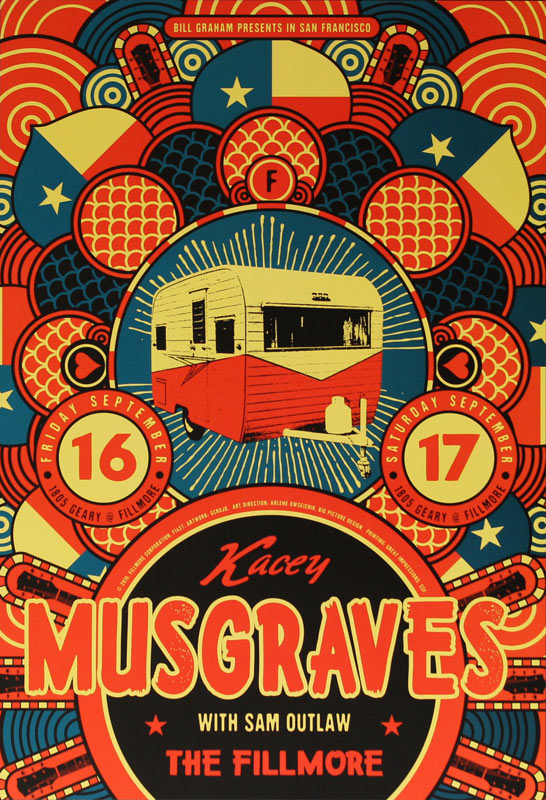 Kacey Musgraves 2016 Fillmore F1427 Poster