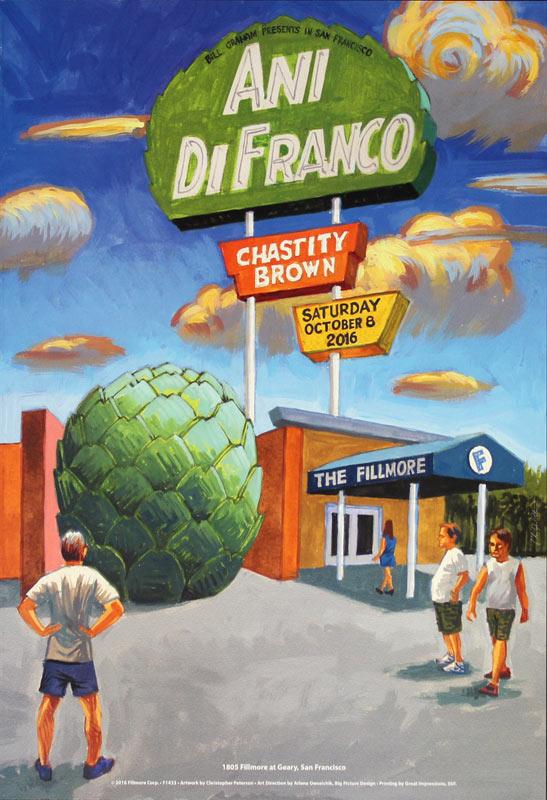 Ani DiFranco 2016 Fillmore F1433 Poster
