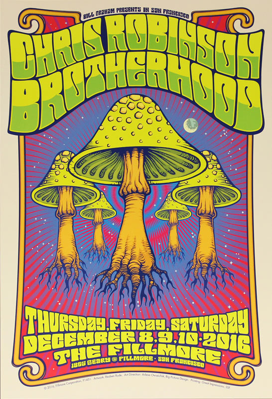 Chris Robinson Brotherhood New Fillmore F1451 Poster