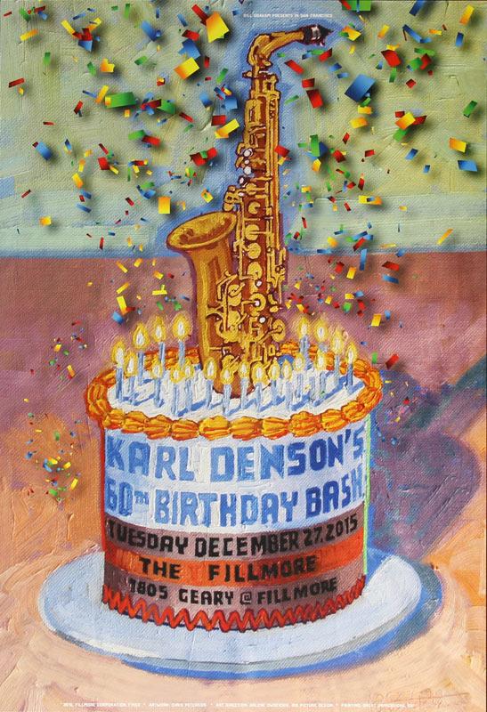 Karl Denson's 60th Birthday Bash New Fillmore F1453 Poster