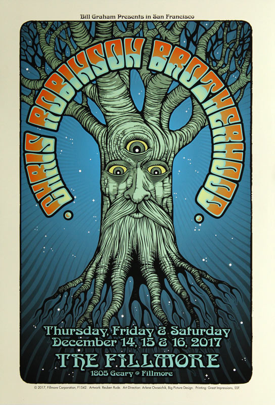 Chris Robinson Brotherhood New Fillmore F1542 Poster