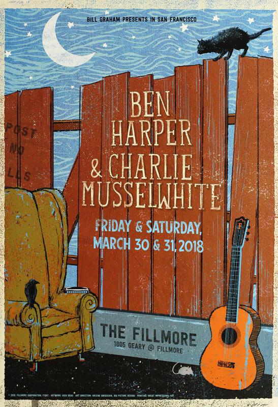 Ben Harper New Fillmore F1567 Poster