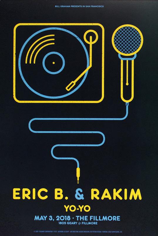 Eric B. and Rakim New Fillmore Poster F1575