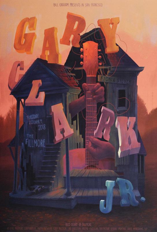 Gary Clark Jr. 2018 Fillmore F1600 Poster