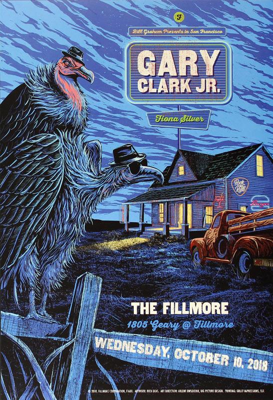 Gary Clark Jr. 2018 Fillmore F1601 Poster
