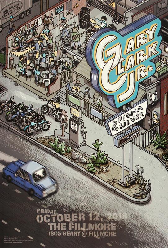 Gary Clark Jr. 2018 Fillmore F1603 Poster