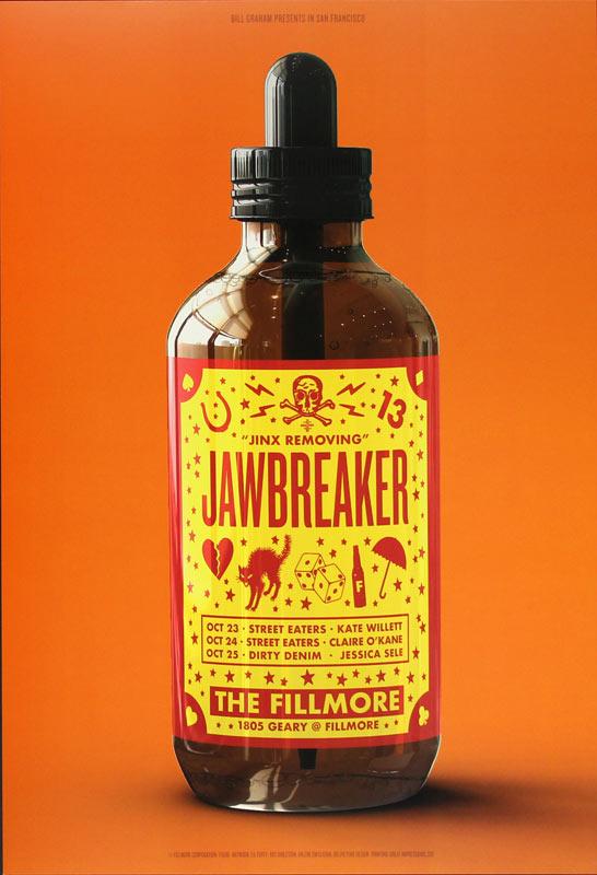 Jawbreaker 2018 Fillmore F1608 Poster
