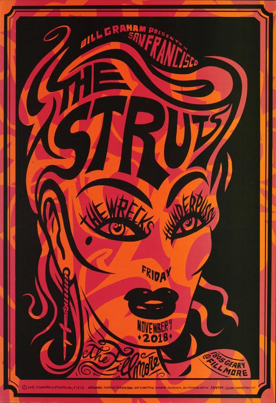 The Struts  Fillmore F1612 Poster