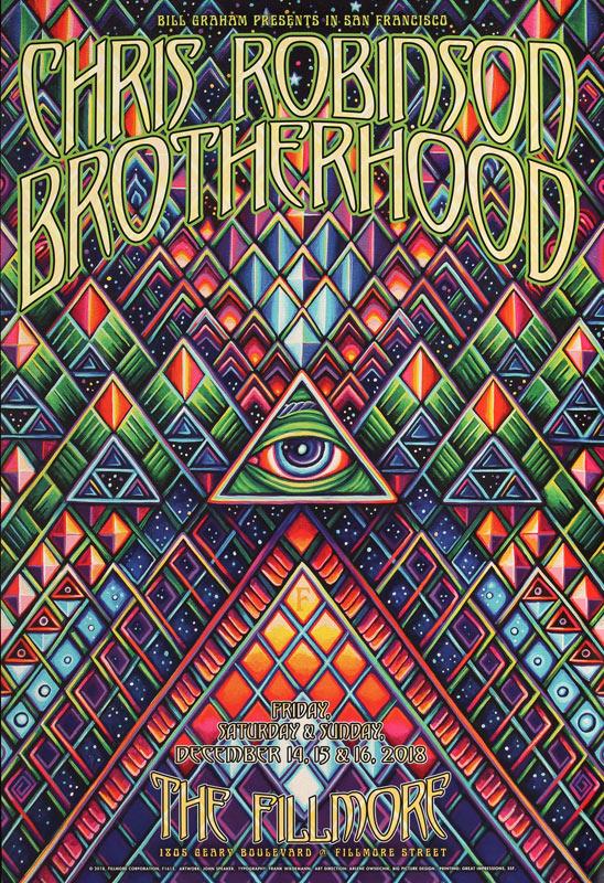 Chris Robinson Brotherhood New Fillmore F1615 Poster