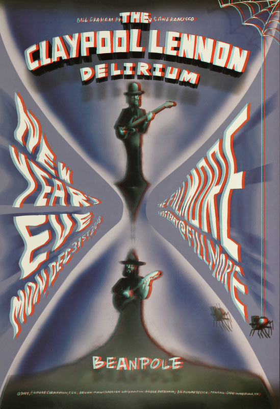 The Claypool Lennon Delirium New Fillmore Poster F1616