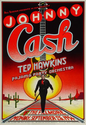 Johnny Cash New Fillmore Poster F162