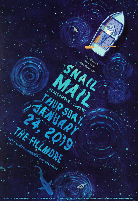 Snail Mail  Fillmore F1620 Poster