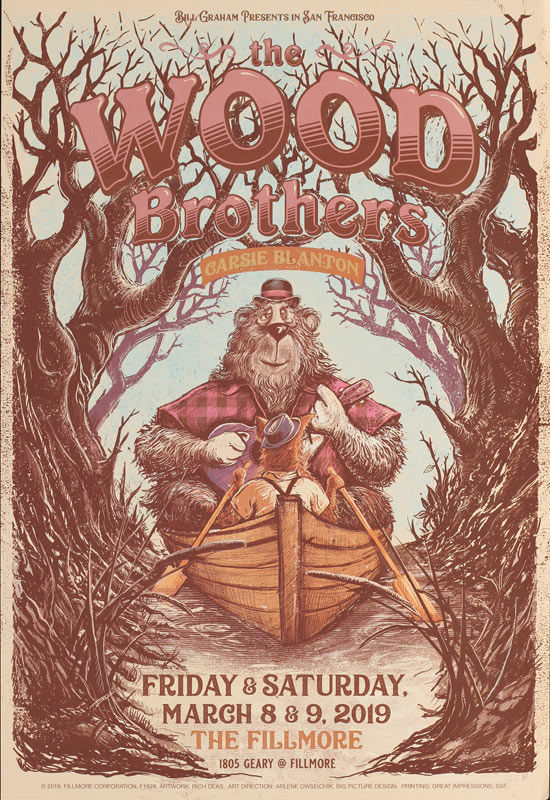 The Wood Brothers  Fillmore F1628 Poster
