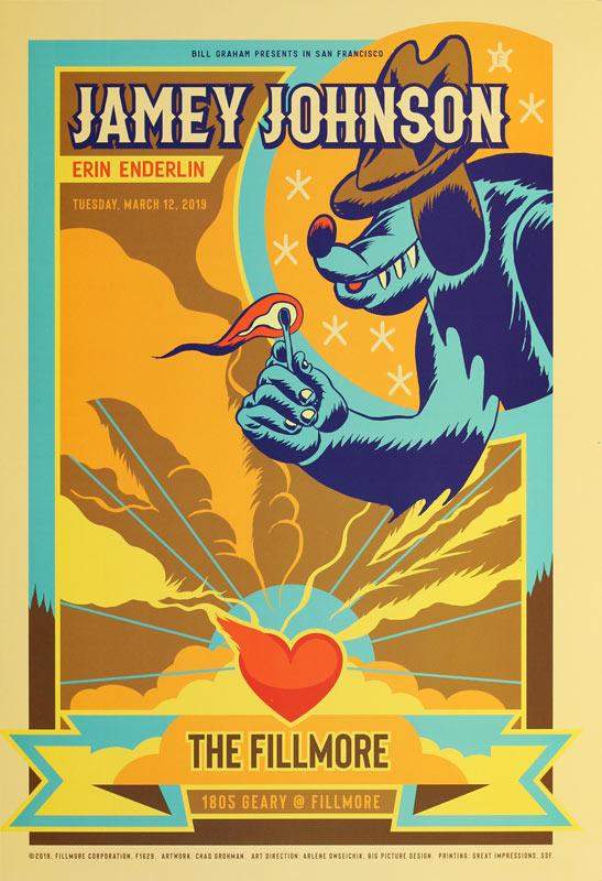Jamey Johnson  Fillmore F1629 Poster