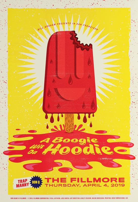 A Boogie Wit Da Hoodie  Fillmore F1634 Poster