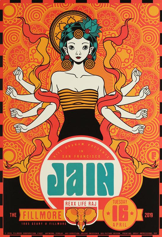 Jain  Fillmore F1637 Poster