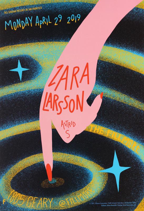 Zara Larsson  Fillmore F1640 Poster
