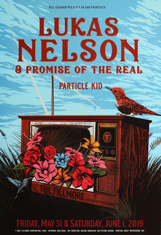 Lukas Nelson and Promise of the Real  Fillmore F1644 Poster