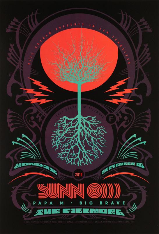 Sunn O)))  Fillmore F1651 Poster