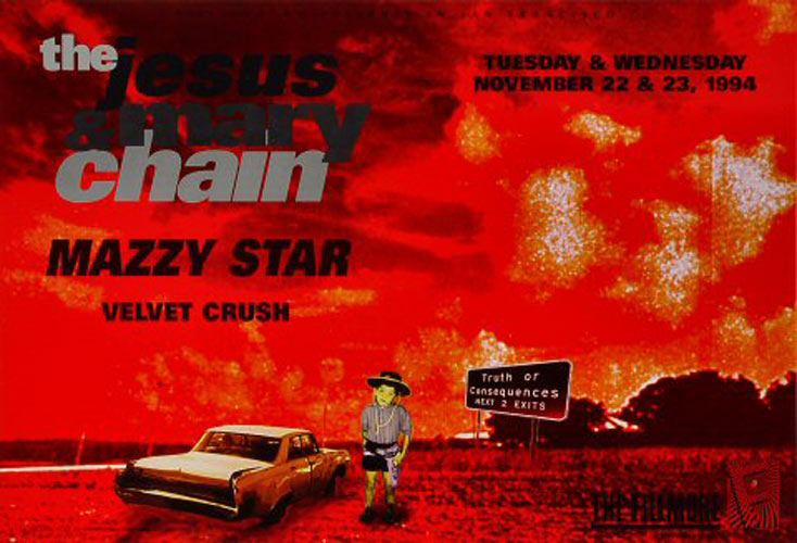 The Jesus & Mary Chain New Fillmore Poster F171