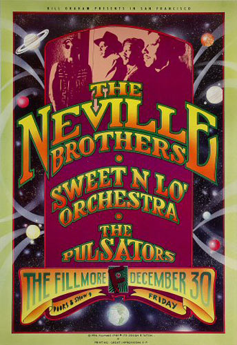 The Neville Brothers New Fillmore F173 Poster