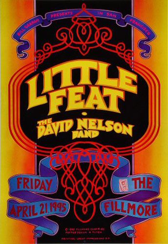 Little Feat New Fillmore Poster F185