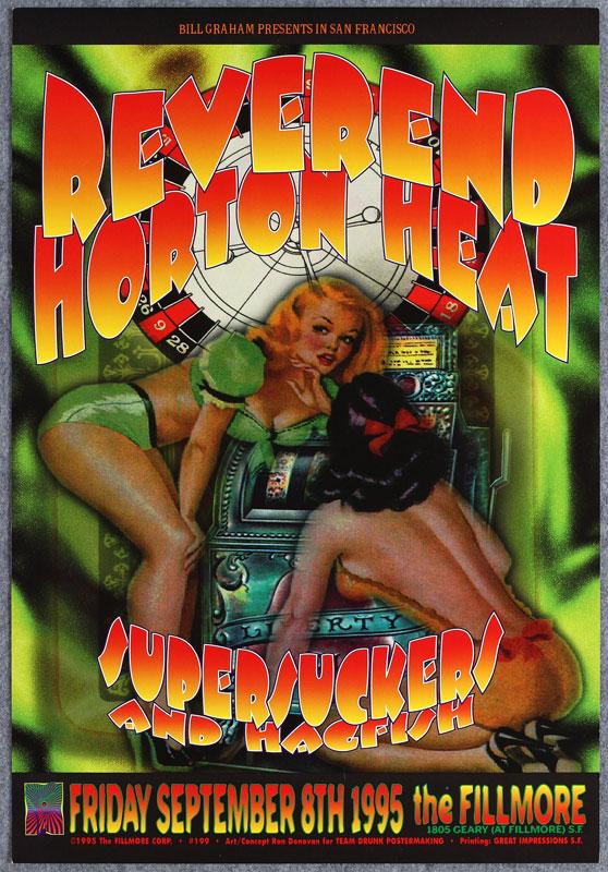 Reverend Horton Heat New Fillmore F199 Poster
