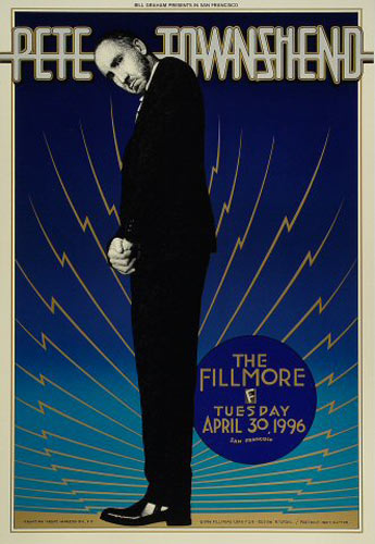 Pete Townshend New Fillmore F219 Poster