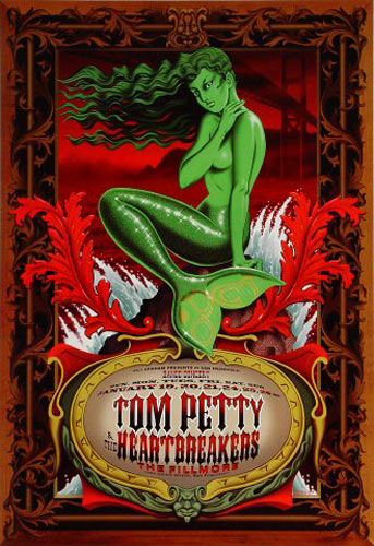 Tom Petty And The Heartbreakers (green) New Fillmore Poster F253