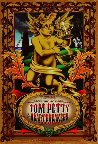 Tom Petty And The Heartbreakers (yellow) New Fillmore Poster F254