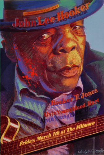 John Lee Hooker New Fillmore Poster F256